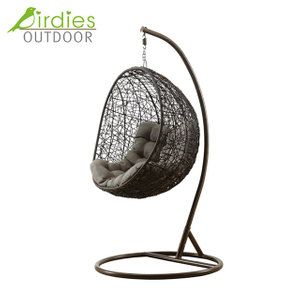 Birdies Factory Egg Frame Balcony Garden Outdoor Wicker Chair Swing