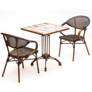 Modern Aluminum Outdoor Garden Chair And Table Ceramic Set Furniture