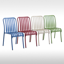 Color Design Home Dining Outdoor Cafe Bistro Bar Restaurant Patio Garden furniture Without Armrests Aluminum Metal Chair