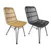 Wholesale Outdoor Restaurant Coffee Dining Aluminum Garden Rattan Wicker Dining Bistro Powder Coated Chairs