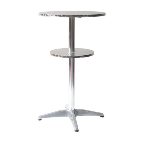 Tall Aluminium Modern Round Metal Outdoor Furniture High Stool Portable Bar Table