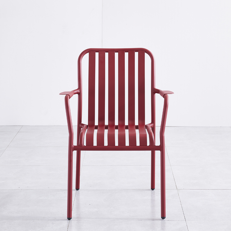 Color Design Home Dining Room Outdoor Bistro Bar Coffee Restaurant Patio Garden Furniture Aluminum Metal Chair
