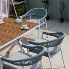Hot Sale Modern Leisure Coffee Woven Garden Outdoor Chair Rope Furniture
