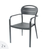 Cruise Ship Dining Restaurant Stackable Aluminium Outdoor Arm Chair