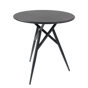 Restaurant Metal Steel Black Round Outdoor Coffee Table