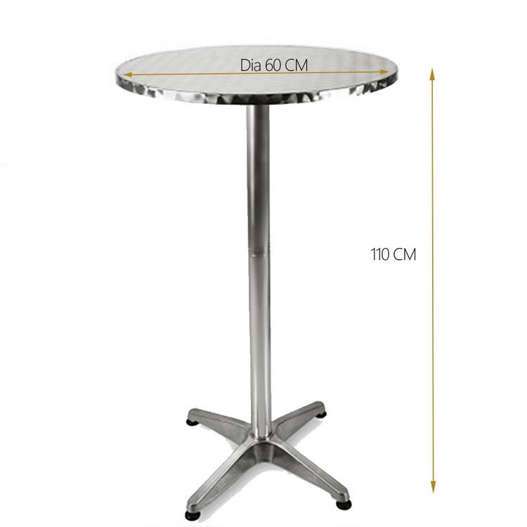 Outdoor Patio Folding Portable Top Cocktail Tall Bar Table