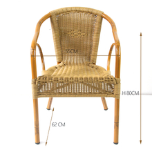 Outdoor Bamboo Aluminium Rattan Garden Flower Chair