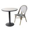 Bistro Outdoor Balcony French Rattan Aluminum Wicker Chair
