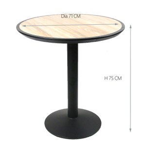 Dinning Bistro Round Ceramic Tile Top Dining Table