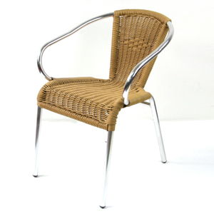 Wicker Restaurant Stacking Dining Wholesale Rattan Outdoor Chair