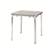 Modern Patio Restaurant Square Stainless Steel Table Factory