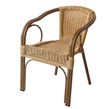 Circle Cane Cafe Chairs Round Outdoor Aluminium Wicker Chair