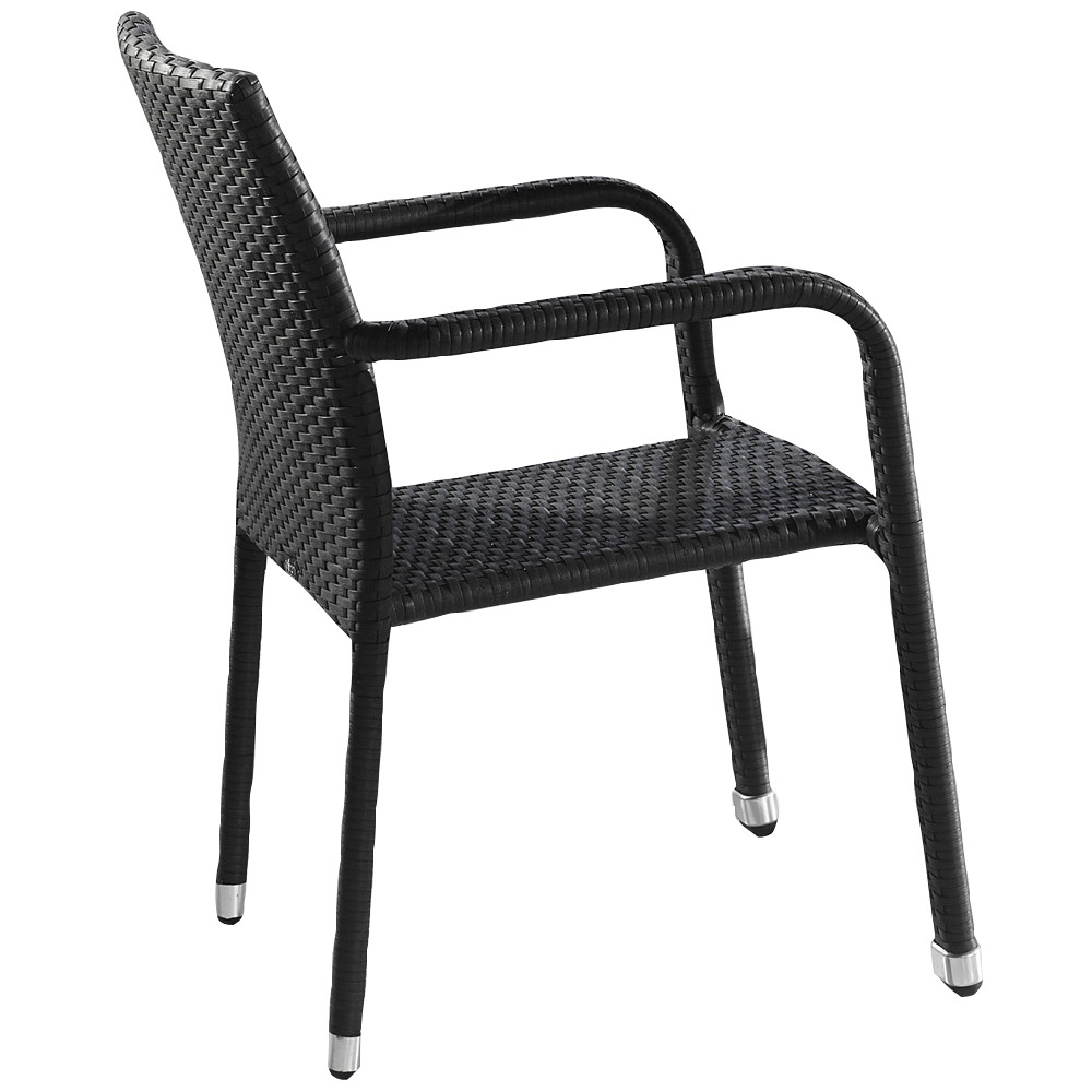 Stackable Metal Wicker Patio Chairs