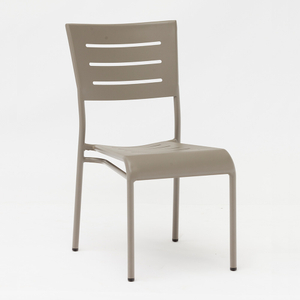Outdoor Bistro Lightweight Cafe Aluminum Chairs