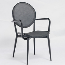 Bar And Cafe Stackable Aluminum Textilene Restaurant Chairs