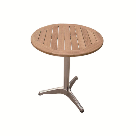 Outdoor Beach Bistro Round Top Solid Wood Dining Table