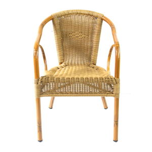 Modern Garden Hotel Beach Bar Aluminum Plastic Rattan Chair Suppliers