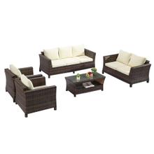 Outdoor Patio 2 Seater Rattan Wicker Sofa Set