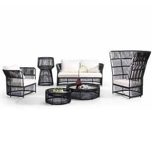 Outdoor Garden Rattan Corner Sofa Bed Furniture Set Sale