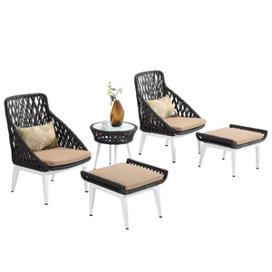 Restaurant Outdoor Garden Rattan Lounge Sofa Set